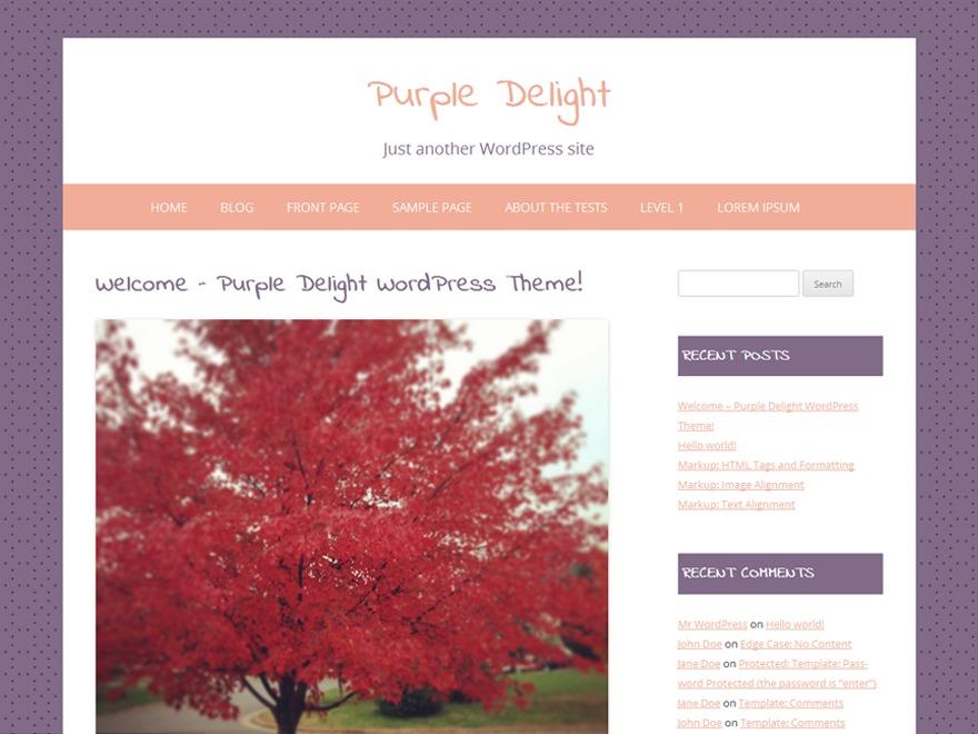 Purple Delight WordPress blog theme