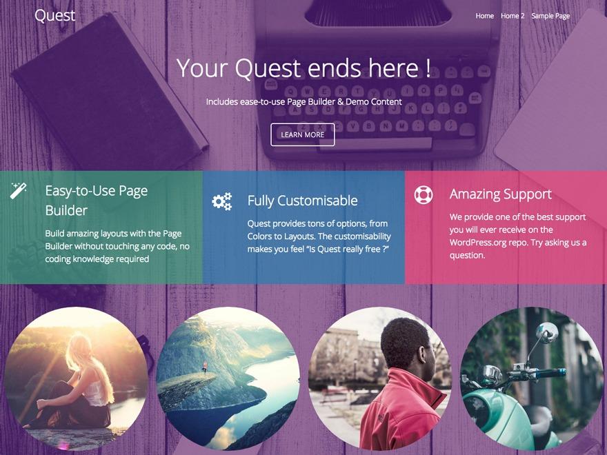 Quest WordPress portfolio template