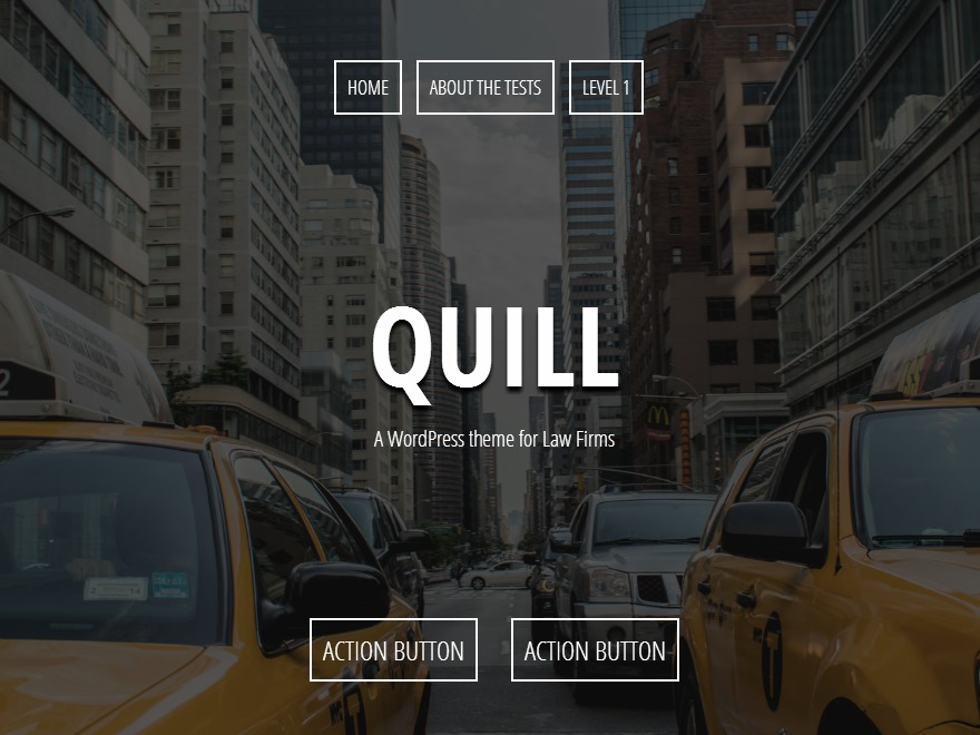 Quill WordPress template for business