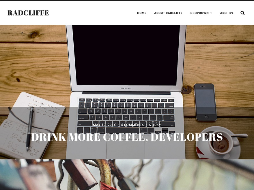Radcliffe WordPress template free