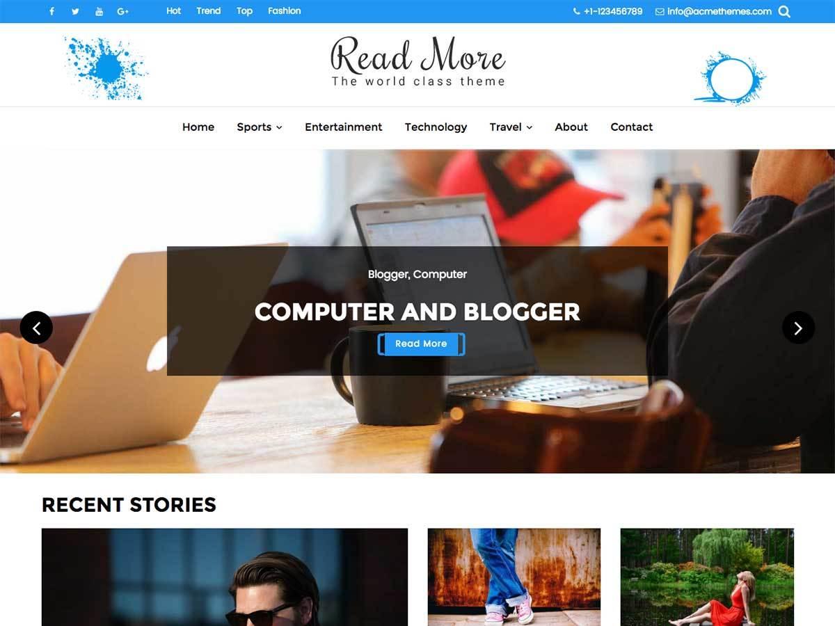 Read More free WordPress theme