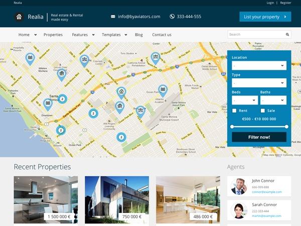 Realia WordPress real estate