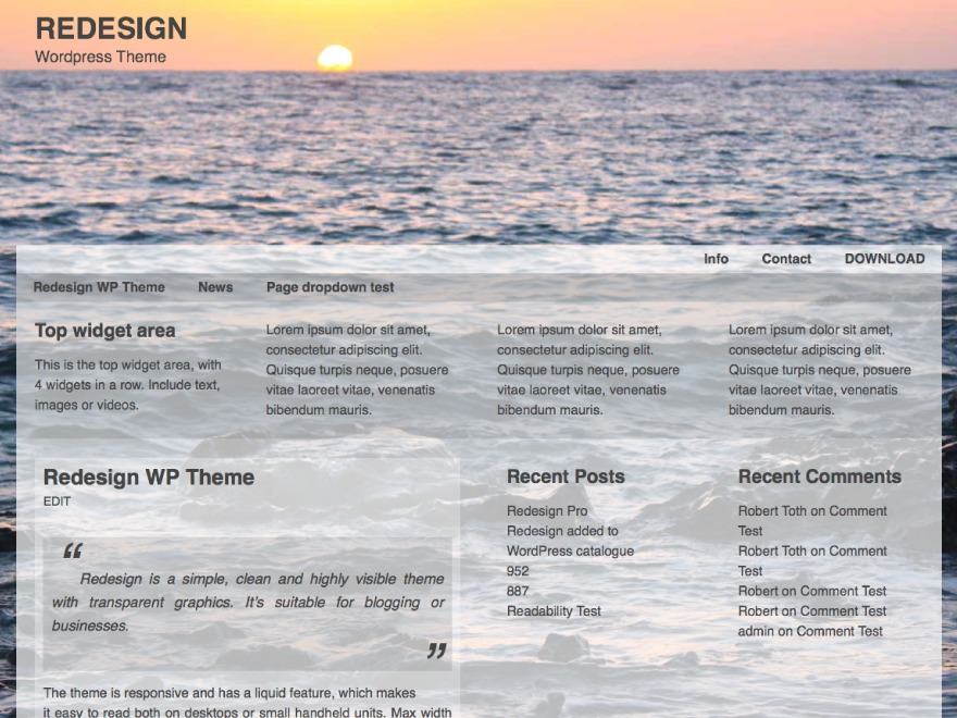 Redesign WordPress magazine theme