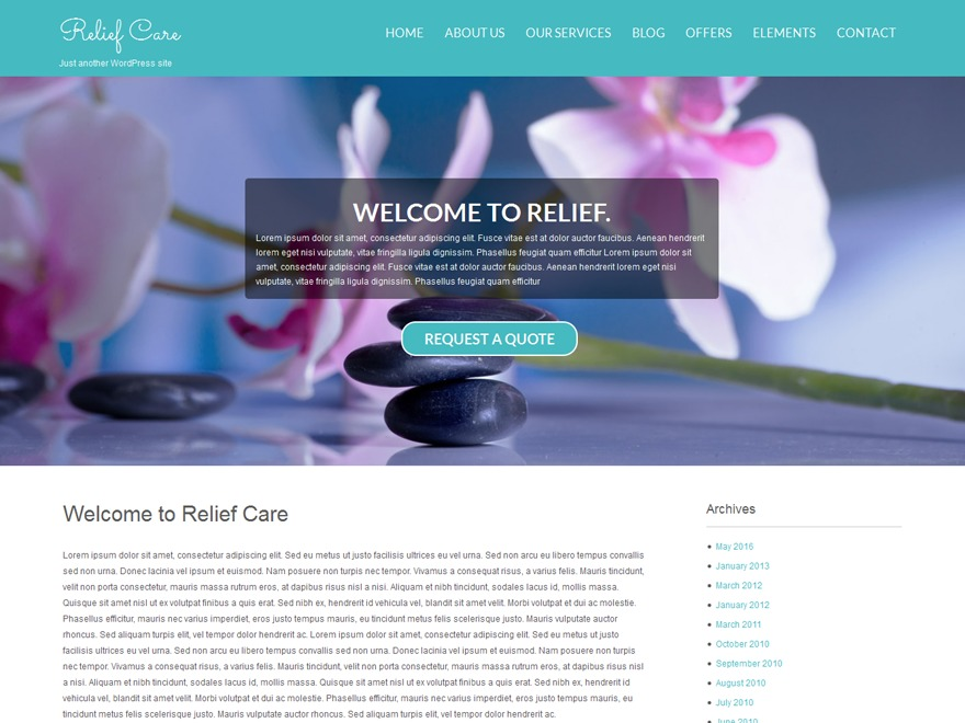 Relief template WordPress free