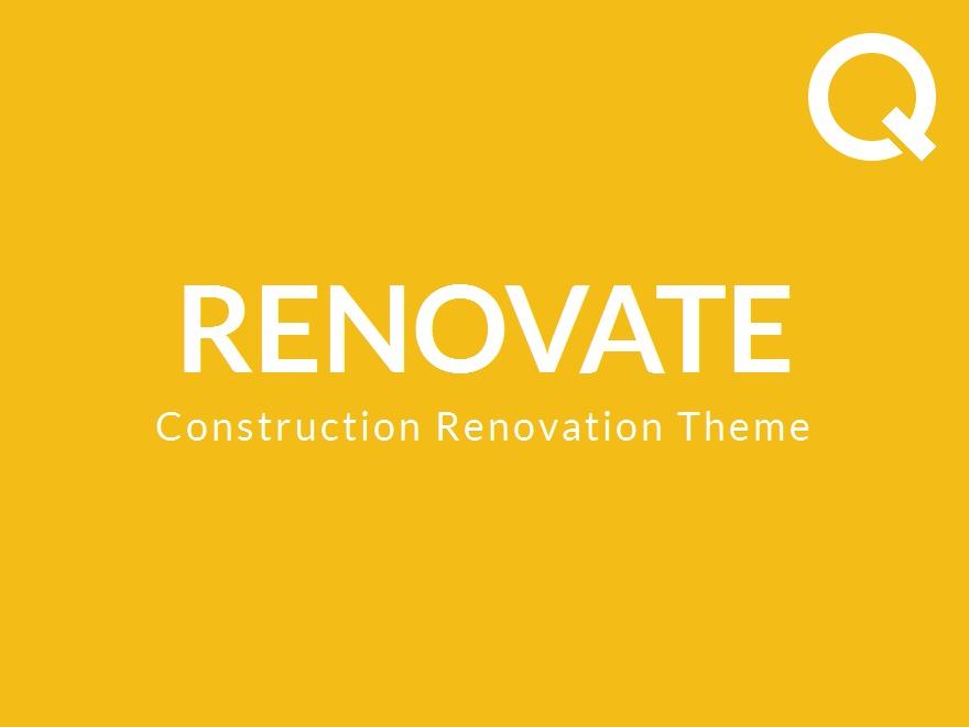 Renovate company WordPress theme
