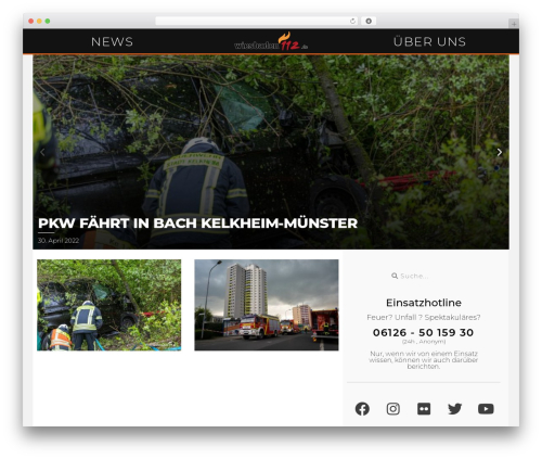 Reporter WordPress template - wiesbaden112.de