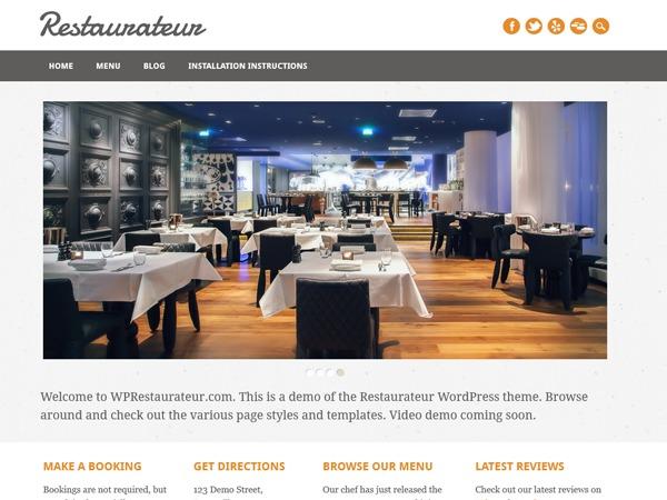 Restaurateur best restaurant WordPress theme