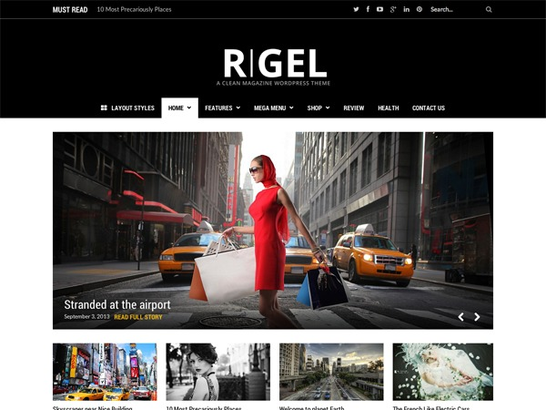 Rigel best WordPress magazine theme