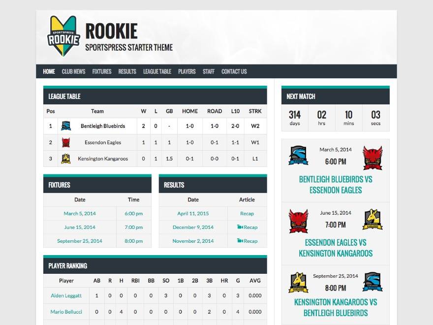 Rookie free WP theme