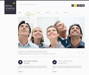 RoyalStartex company WordPress theme