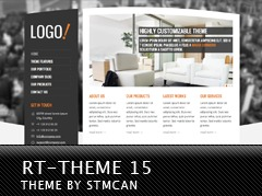 RT-Theme 15 WordPress website template