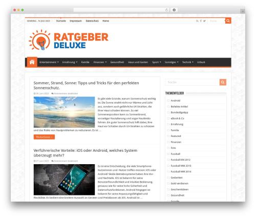Sahifa WordPress blog template - weblog-deluxe.de