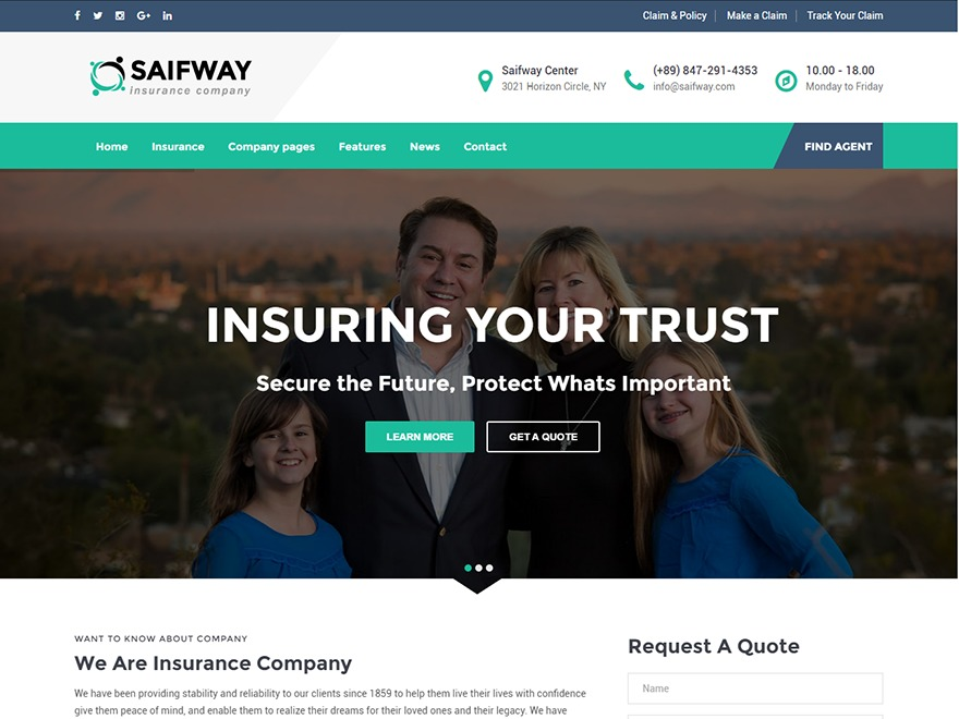 Saifway premium WordPress theme