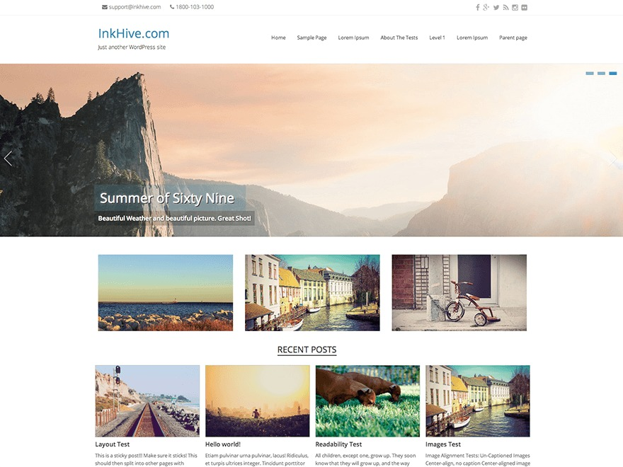 Seller WordPress template free