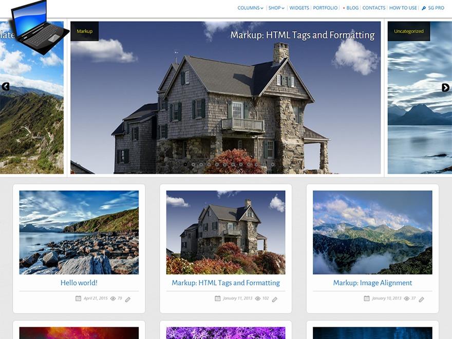 SG Window personal WordPress theme
