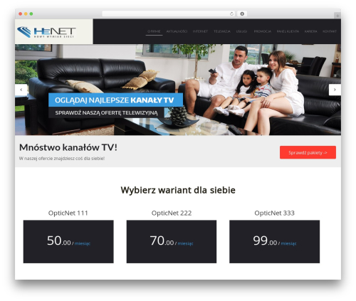 Shard best WordPress theme - w3.henet.pl