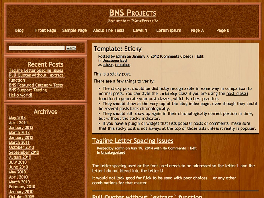 Shelter WordPress website template