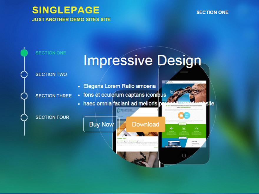 SinglePage best free WordPress theme