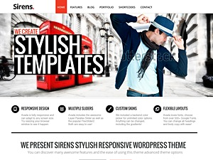Sirens company WordPress theme