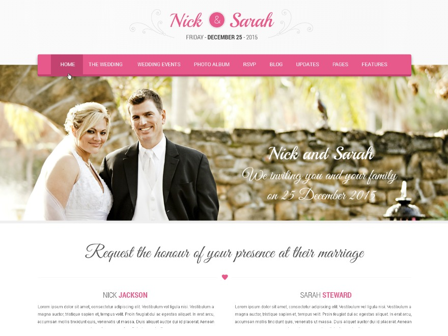 SKT Wedding Lite free WP theme