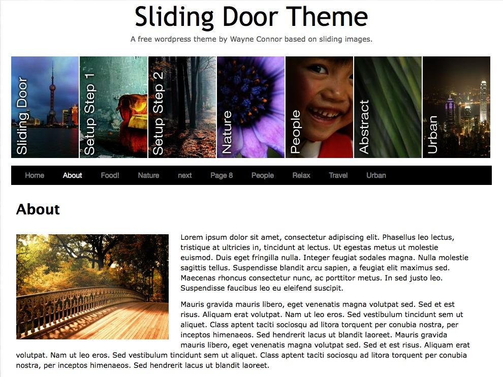 Sliding Door WordPress theme