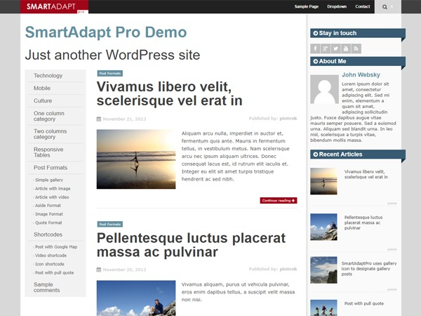 SmartAdapt free WordPress theme