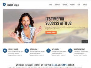 Smartgroup WordPress template for business
