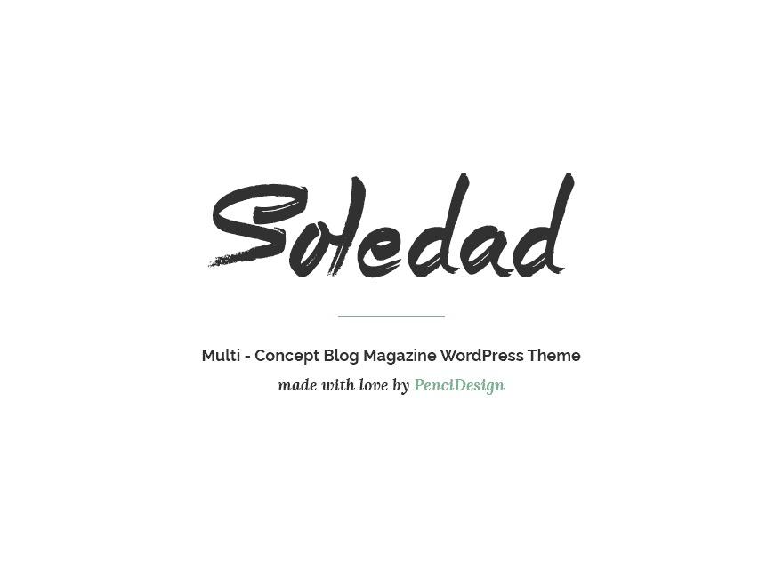 soledad WordPress magazine theme