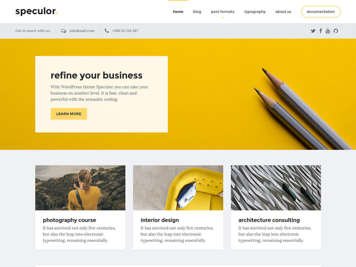 Speculor WordPress theme free download
