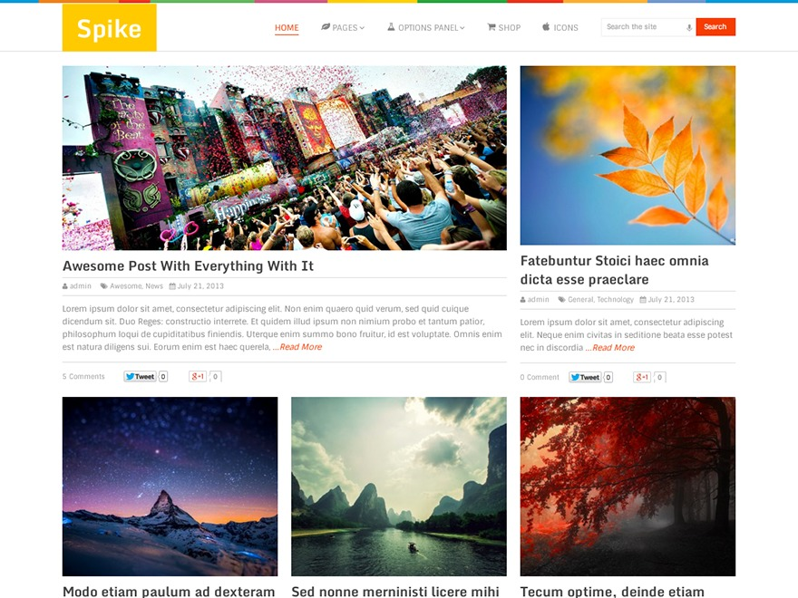Spike WordPress blog theme