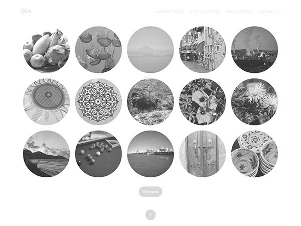Spun photography WordPress theme