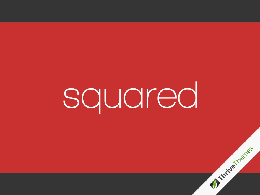 Squared WordPress blog theme
