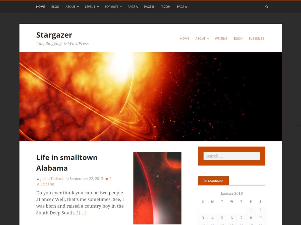 Stargazer theme WordPress free
