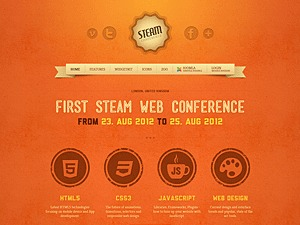 Steam WordPress page template