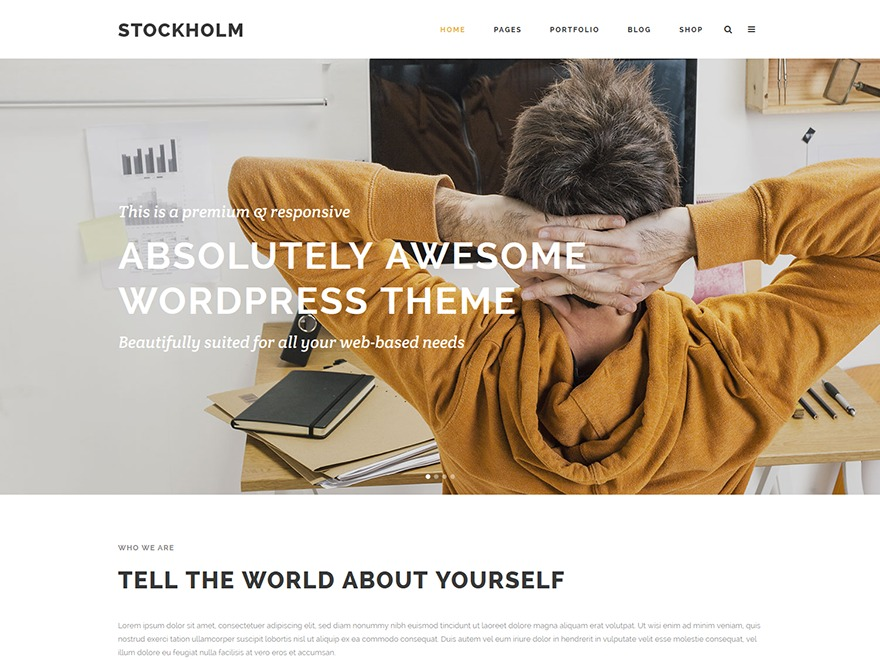 Stockholm best WordPress template
