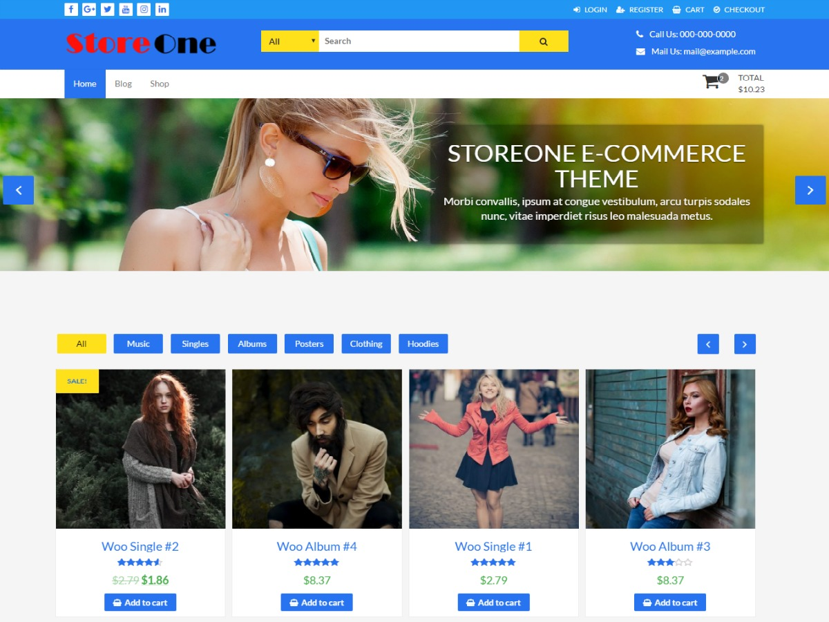 StoreOne free WordPress theme