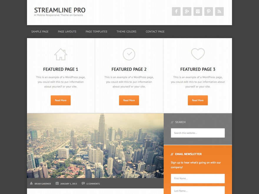 Streamline Pro Theme theme WordPress