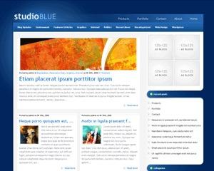 StudioBlue WordPress theme