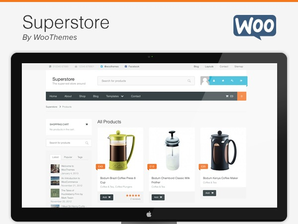 Superstore WordPress shopping theme