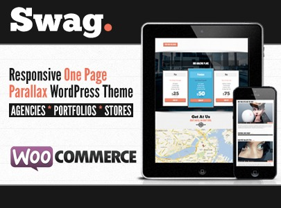 Swag WordPress portfolio template