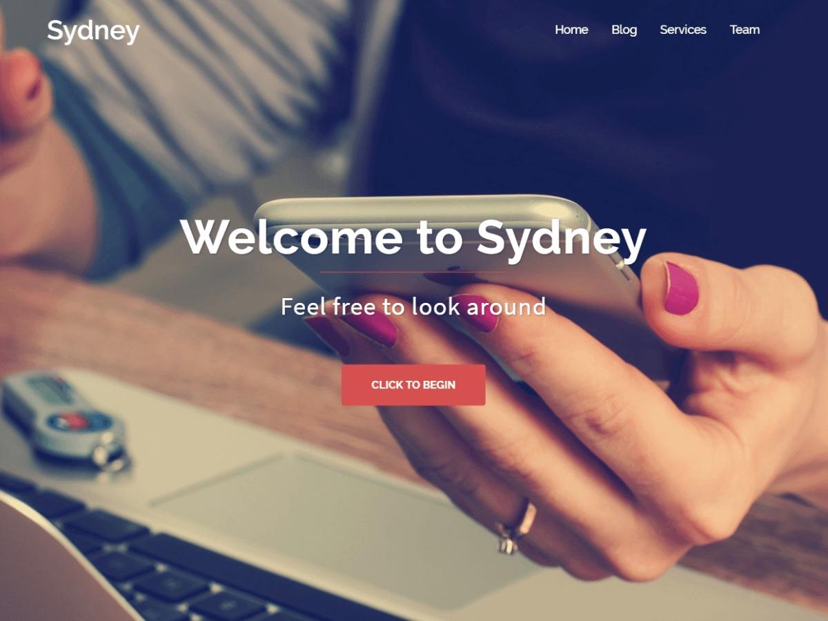 Sydney free WP theme