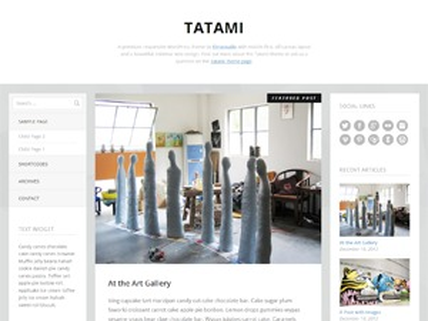 Tatami theme WordPress
