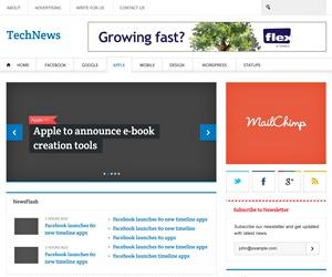 TechNews WordPress news template