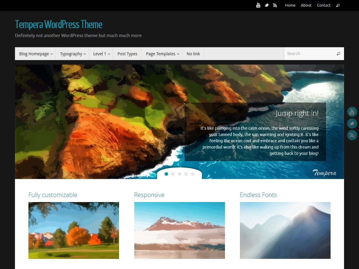 Tempera template WordPress free