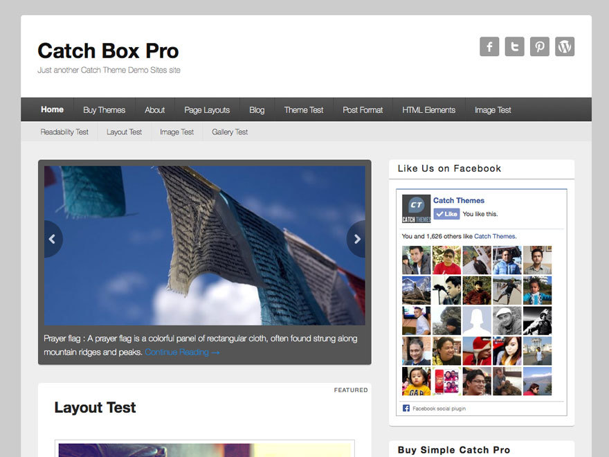 Template WordPress Catch Box Pro