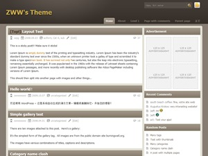 Template WordPress Chocolate-lite
