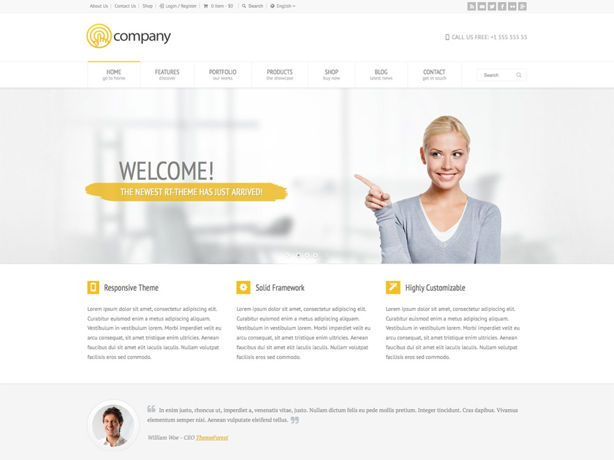 Template WordPress RT-Theme 18