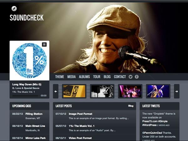 Template WordPress Soundcheck