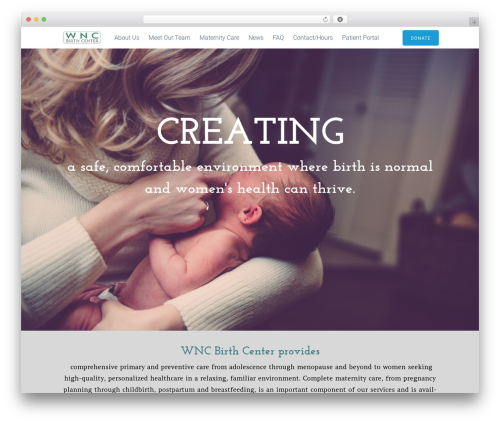 Tesseract WordPress theme - wncbirthcenter.com