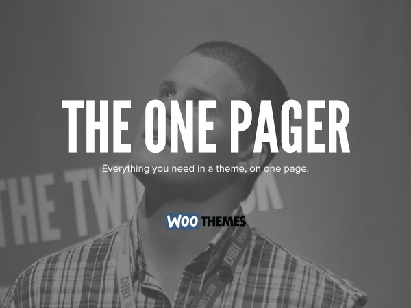 The One Pager WordPress page template